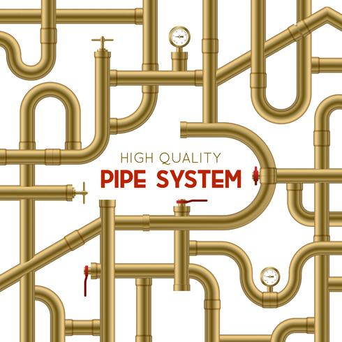 Pipe System Background vettore