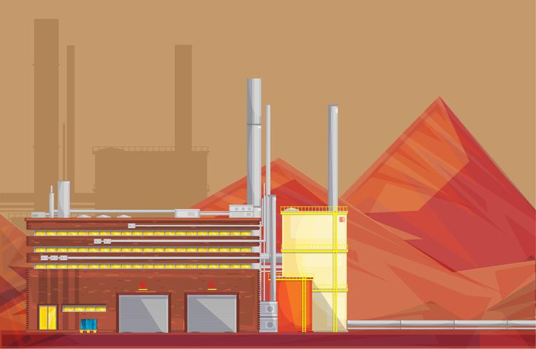 Eco Waste Disposal Industry Flat Poster