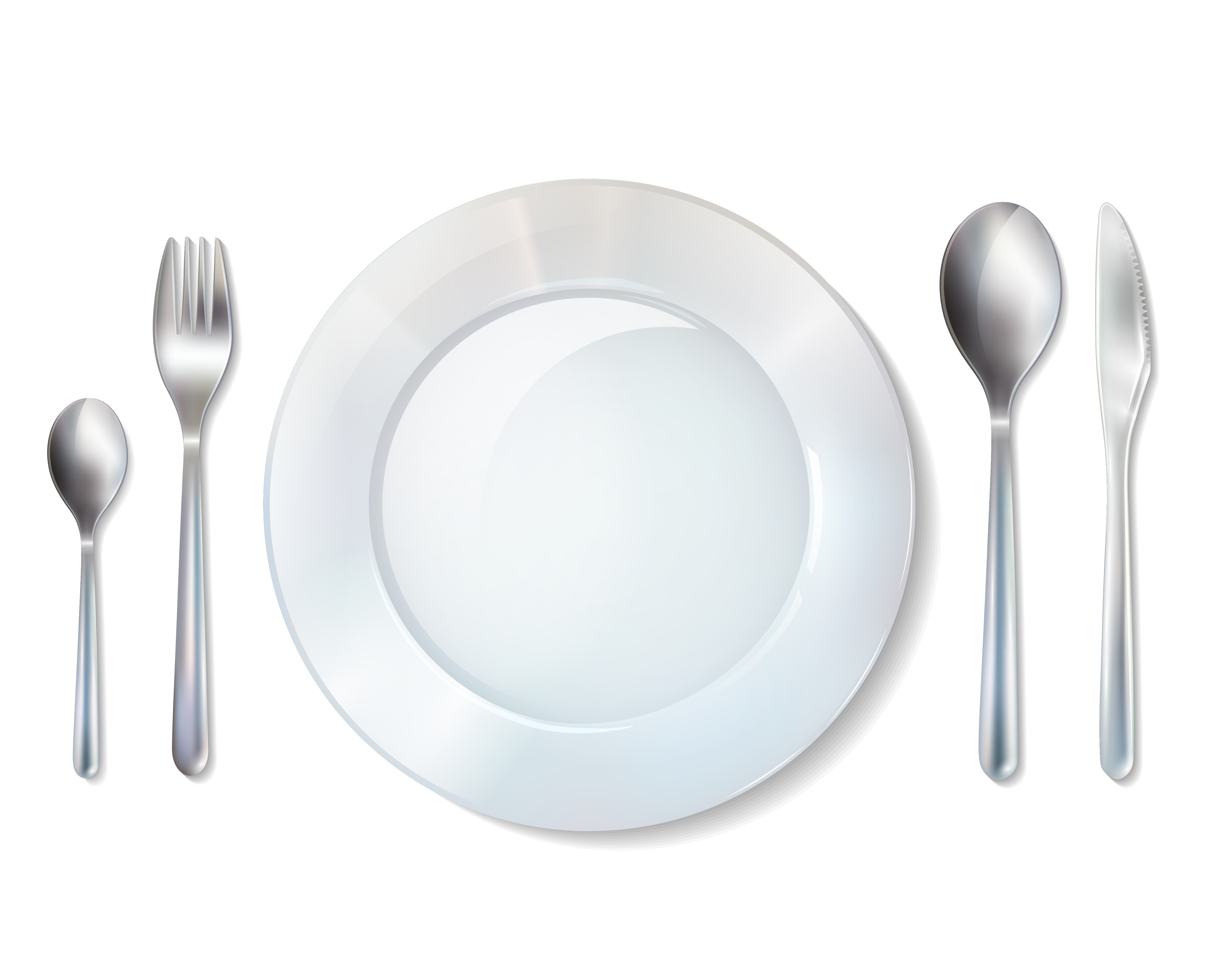 plate and cutlery realistic set image download free