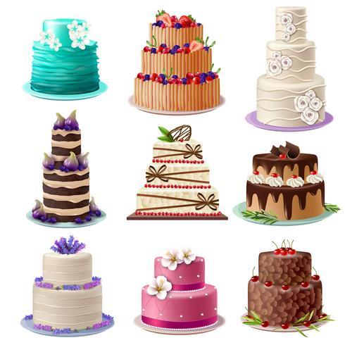 Conjunto de bolos assados doce