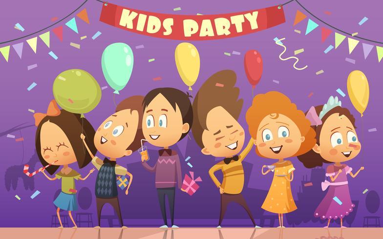 Illustrazione del partito di bambini vettore