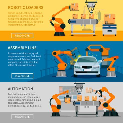 Set di banner di automazione vettore