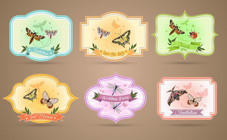 Insecten emblemen Set