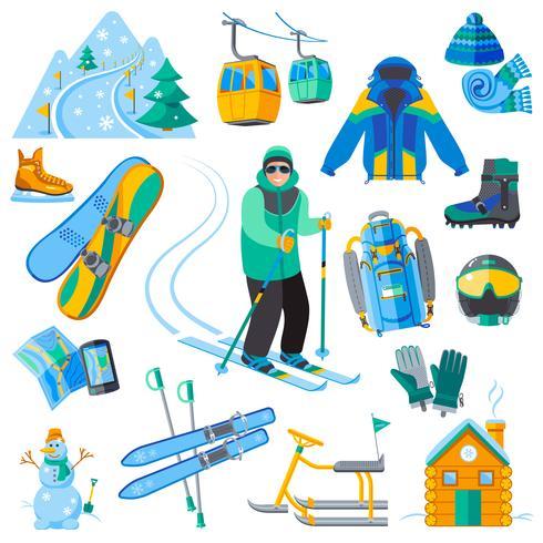 Ikoner på skidorten