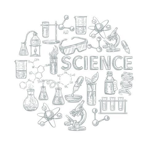 Composizione di concetto di chimica vettore