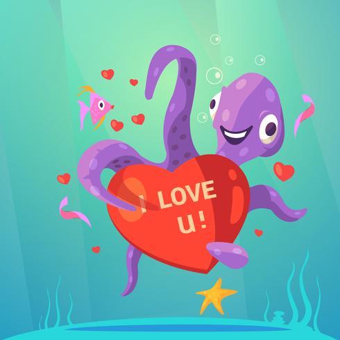 San Valentino giorno cartoon retrò