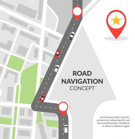 Concetto di navigazione stradale vettore