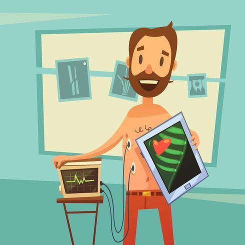 Mobile Heart Diagnostic Background
