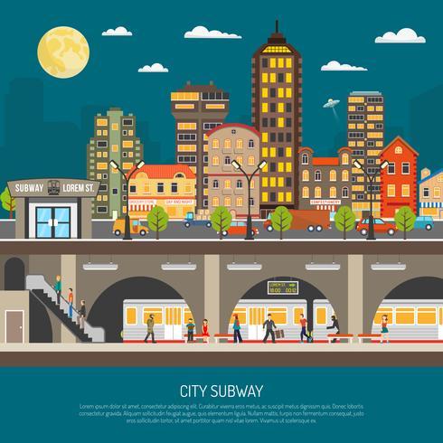 Poster van de stadsmetro