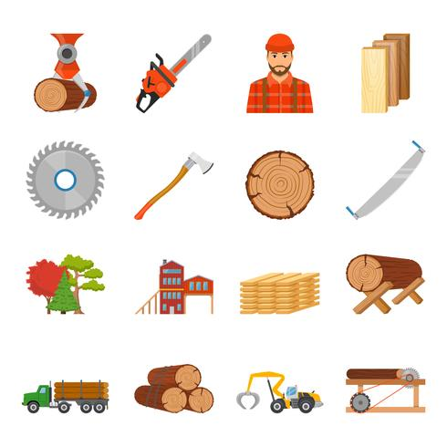 Scierie Timber Icon Set