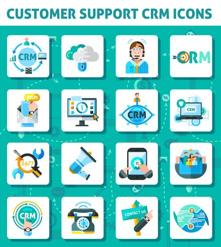 Customer Support Icons Set  vector