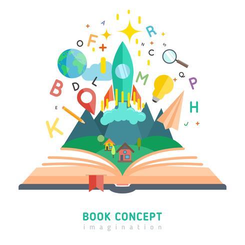 Ilustración del concepto de libro