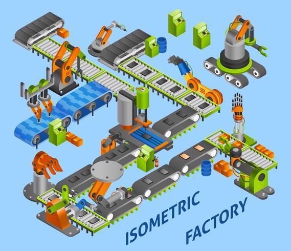 industrieel robotconcept vector