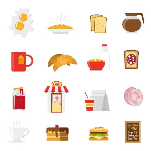 Breakfast Icons Set  vector