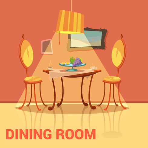 Sala da pranzo design retrò