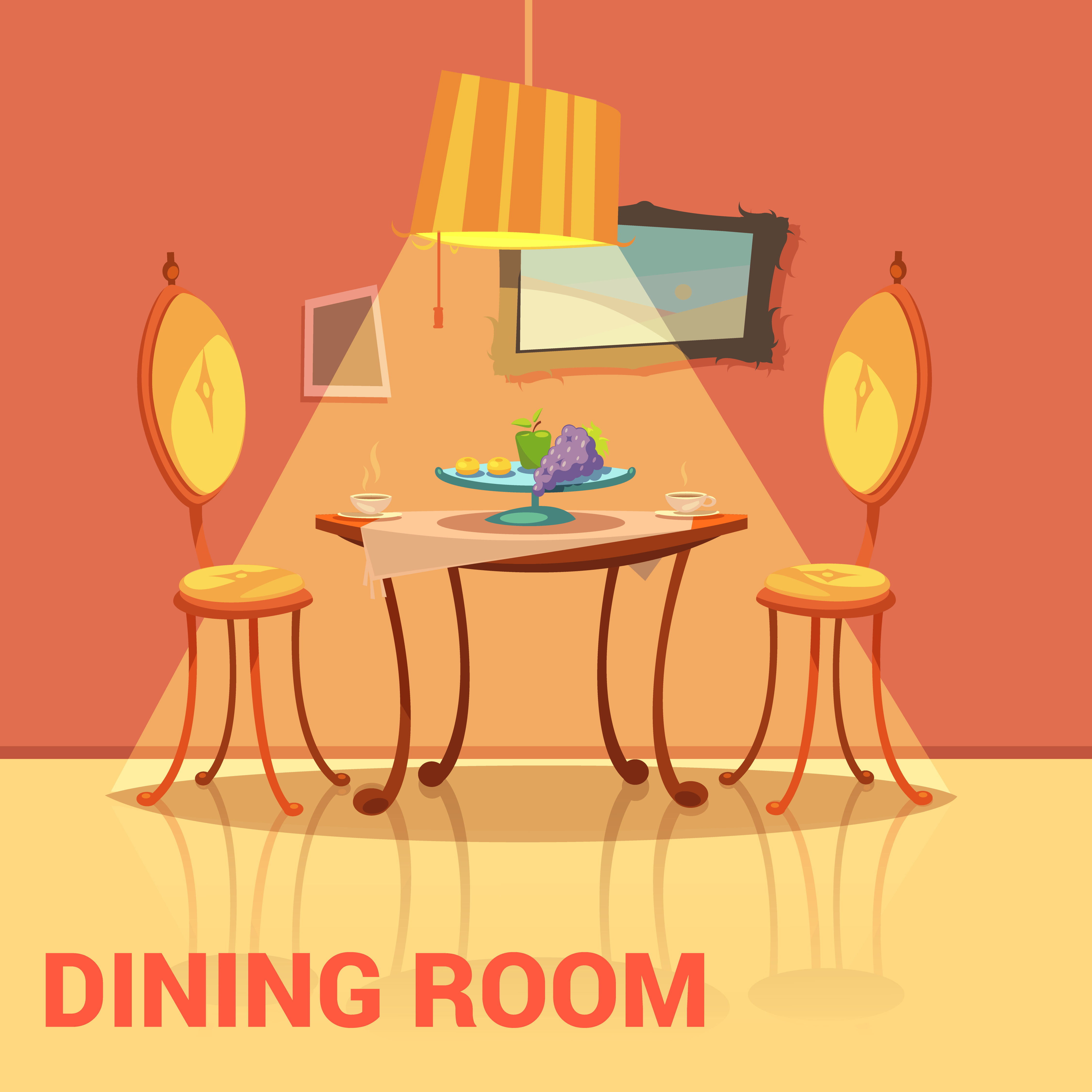 Cartoon Dining Room: Download Free Vector Art, Stock