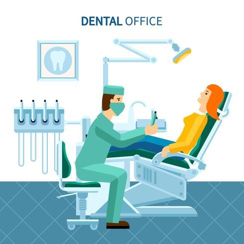 Cartel de la oficina dental vector