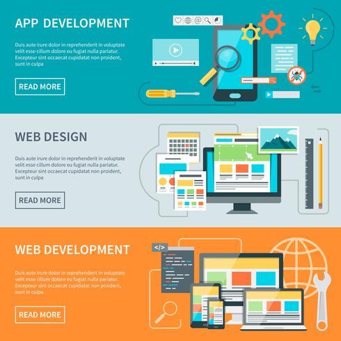 Banner für die Website-Entwicklung