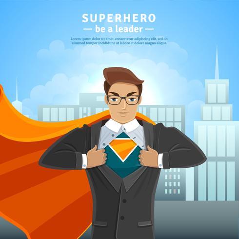 Super Hero Businessman Concept