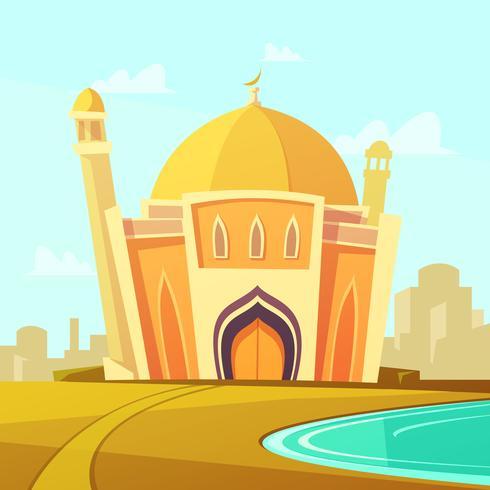 Illustrazione della costruzione della moschea vettore