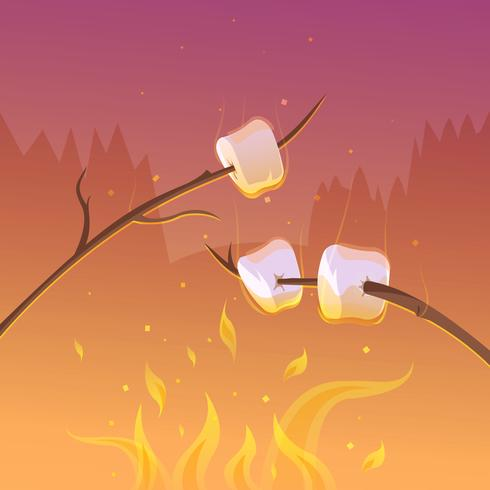 Barbecue a notte sfondo
