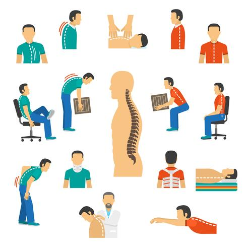 Diagnosis And Treatment Spine Diseases vector