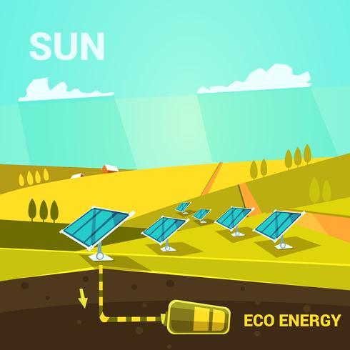 Dibujos animados de energía ecológica vector