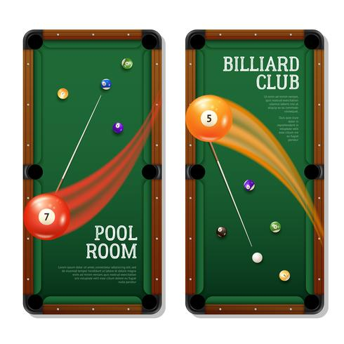 Billiards Banners Set