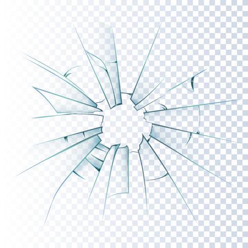 Icona realistica di vetro smerigliato rotto