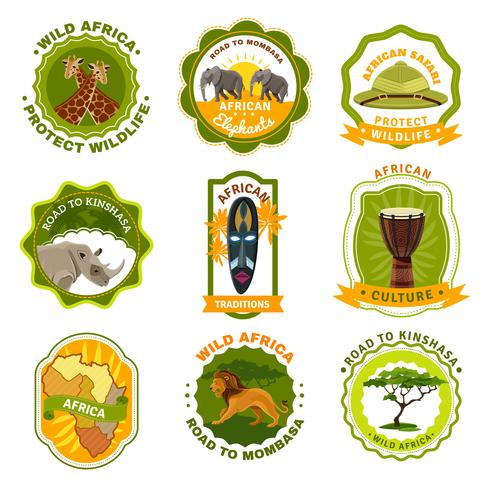 Africa Emblems Set