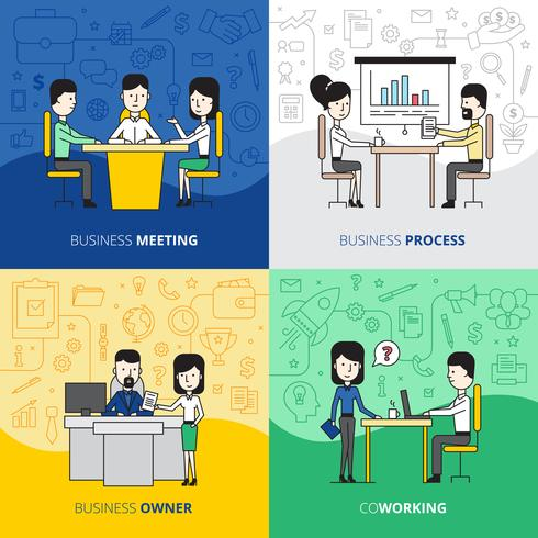 Business People  Square Design Concept vector