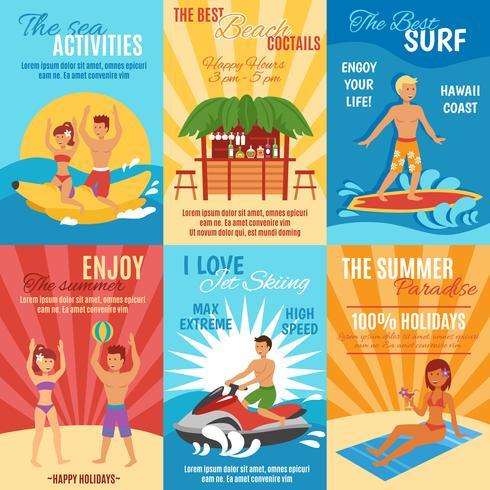Strand affisch set