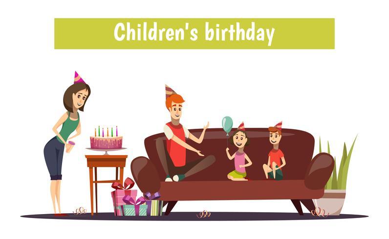 Composición de cumpleaños de los niños vector