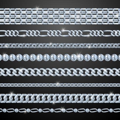 zilveren kettingen instellen