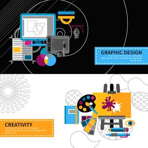 Kreative Designer Banner eingestellt vektor