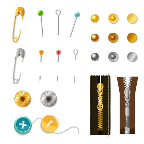 Metalen accessoireset vector