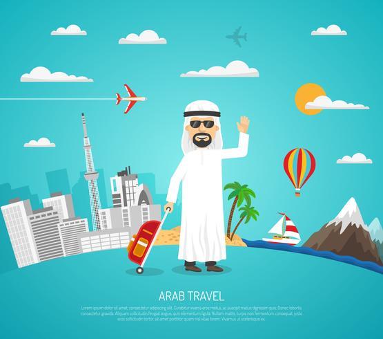 Poster de viagem árabe vetor