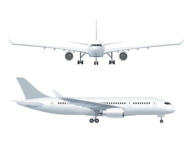 Vliegtuig realistische pictogrammen instellen vector
