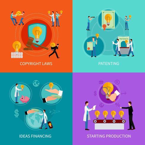 Intellectual property design  concept set