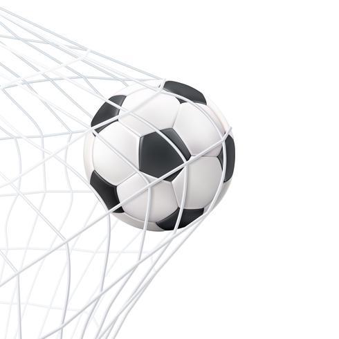 Soccer Ball In The Net Pictogram  vector