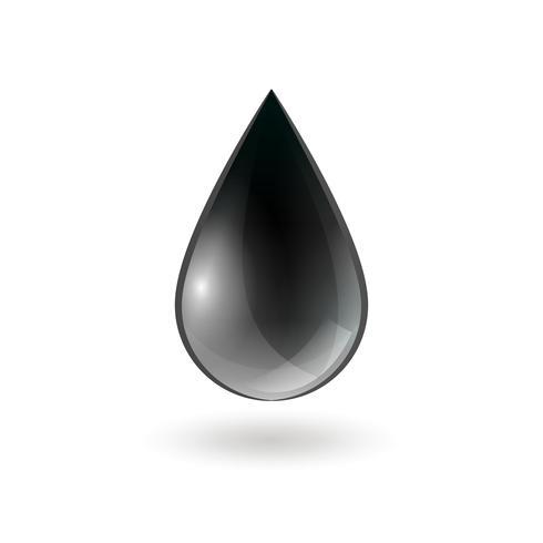 Caída de una sola gota de aceite