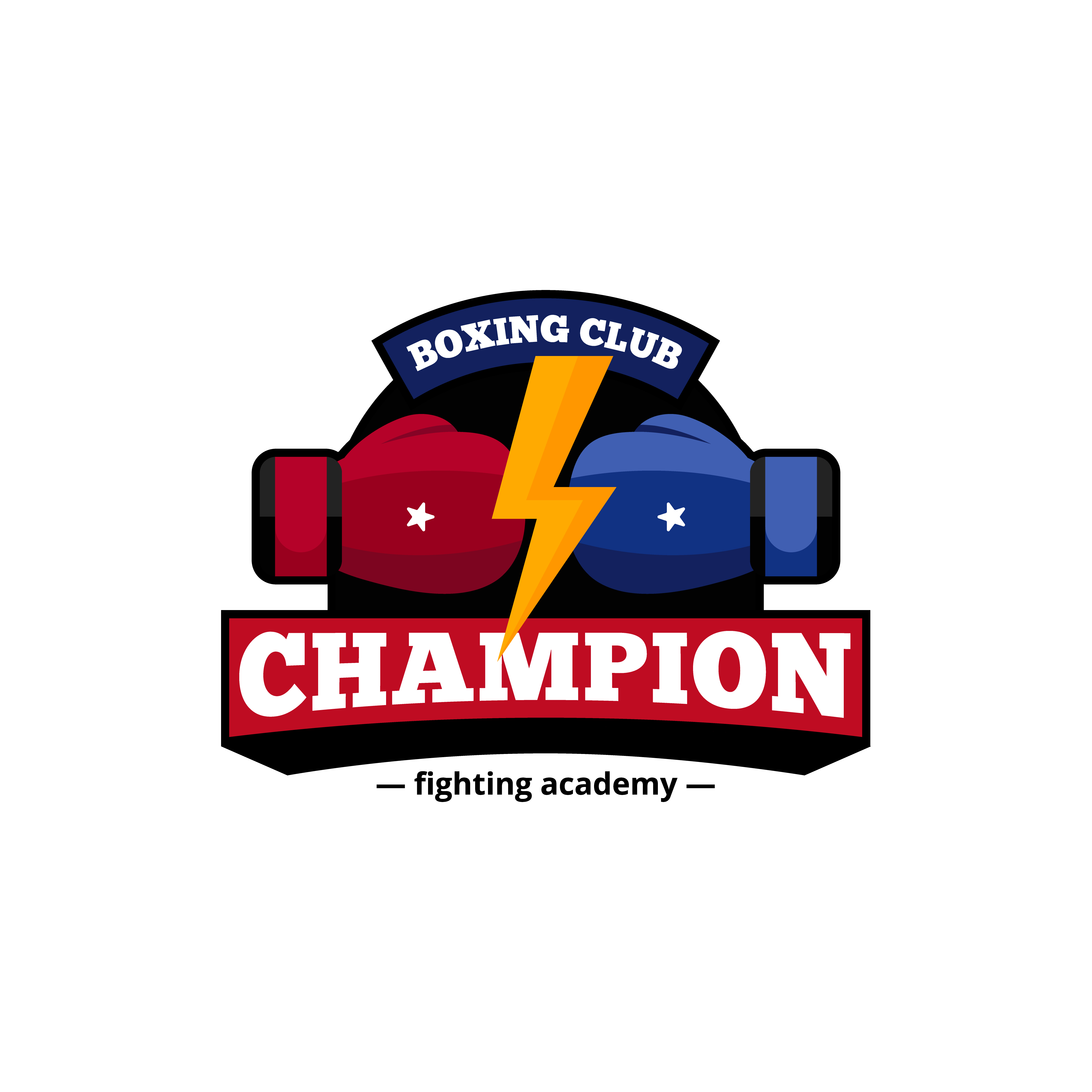 Boxing Club Logo Design Flat Icon Download Free Vectors