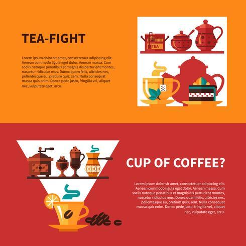 Kaffe och Tea 2 Banners Design