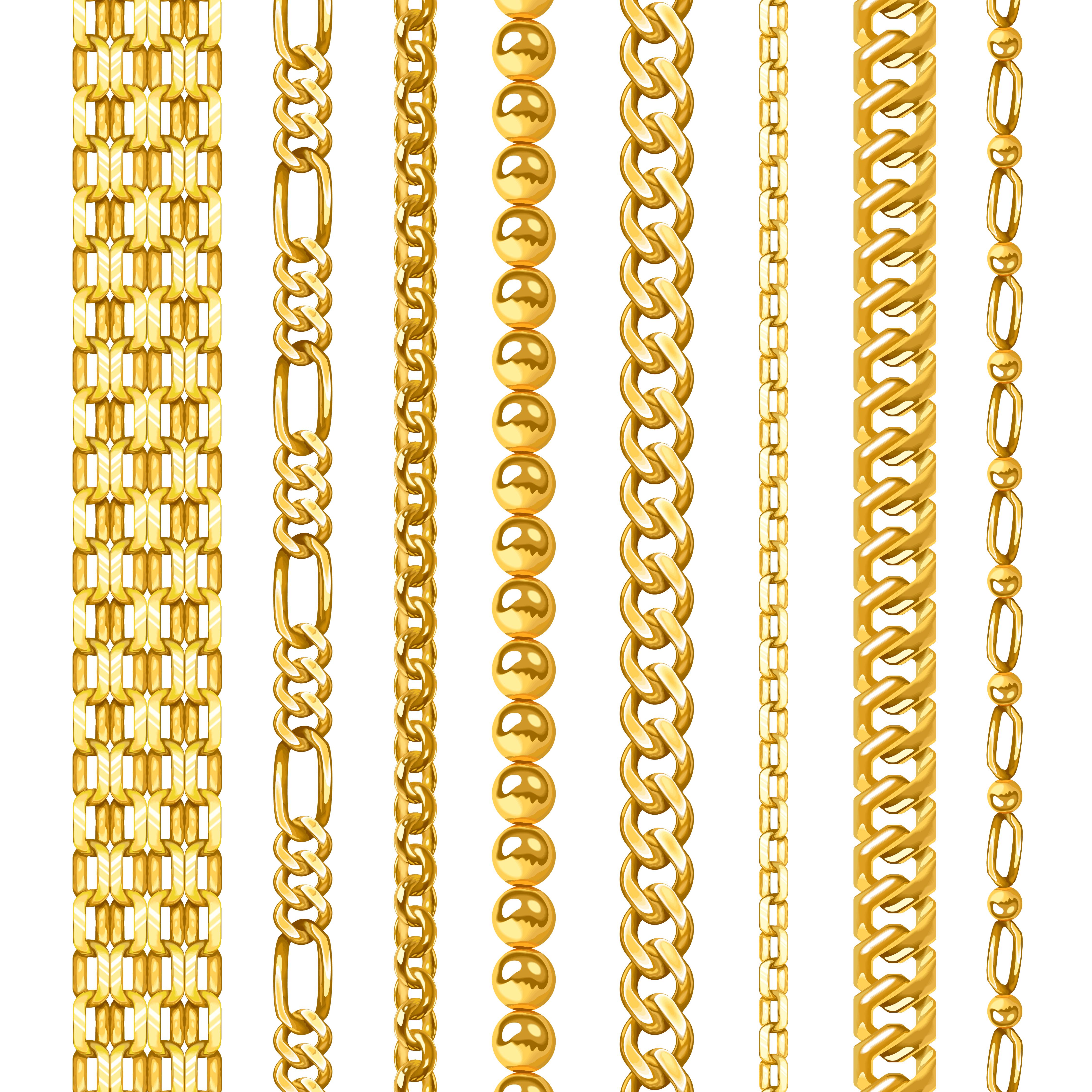 Golden Chains Set 472842 - Download Free Vectors, Clipart ...  Chain Vector