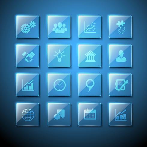 Web-Zeichen Glasplatte Icons