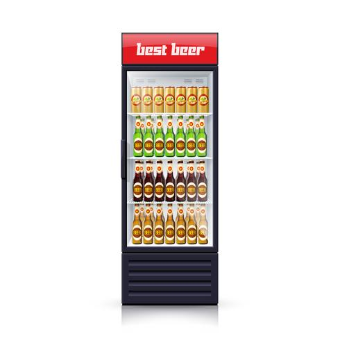 Beer Fridge Dispenser Realistic Illustration Icon vector
