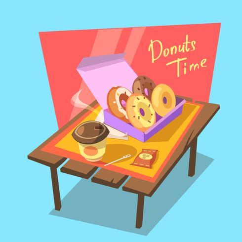 Donuts Zeitkonzept