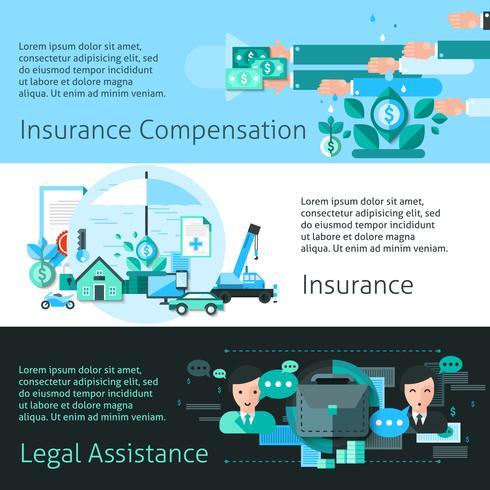 Set di banner di assicurazione e rischio