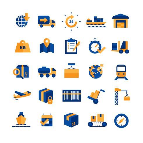 Set di icone di logistica vettore