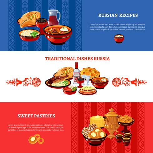 Ryska Cuisine Flag Colors Banners Set